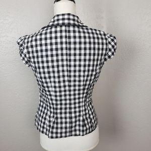 Alyx Jackets & Coats - Alyx Gingham Print Short Sleeve Blazer Size 8